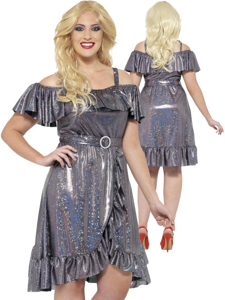 Ladies Plus Size 70s Disco Diva Costume