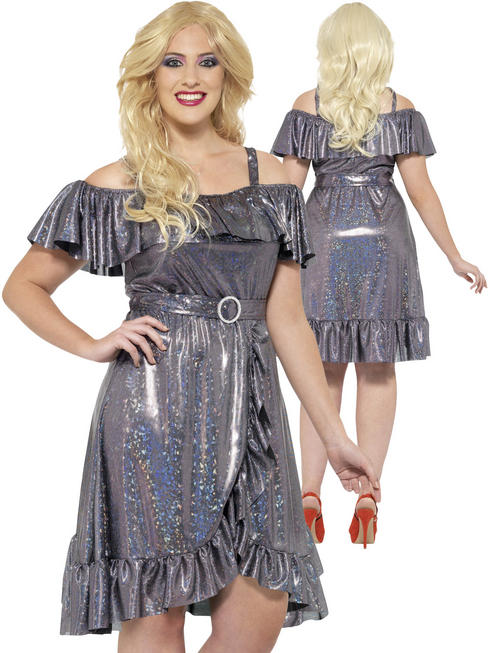 Ladies Plus Size 70s Disco Diva Costume