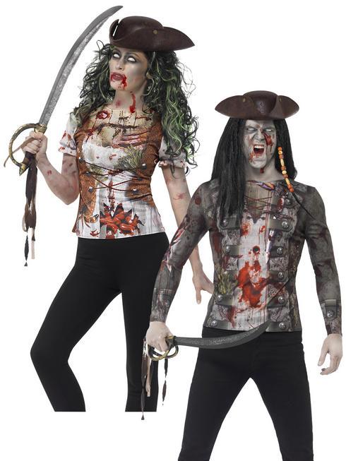 Adults Zombie Pirate T-Shirt