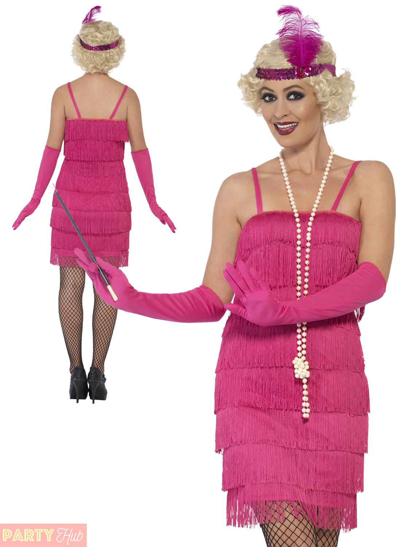 Ladies Charleston Flapper Costume Adults 1920s Gatsby Fancy Dress ...