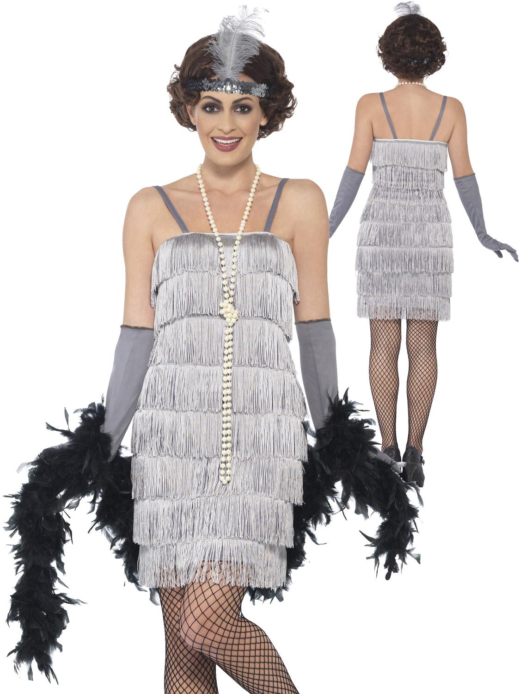 Femmes-Charleston-Costume-d-039-aileron-adultes-1920-S-Gatsby-Deguisement-Femme-Costume miniature 24