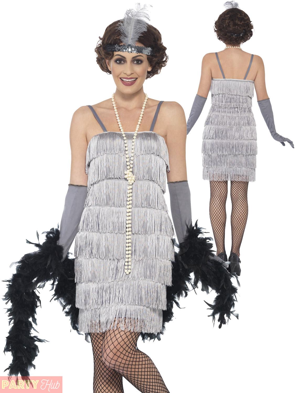 Femmes-Charleston-Costume-d-039-aileron-adultes-1920-S-Gatsby-Deguisement-Femme-Costume miniature 25