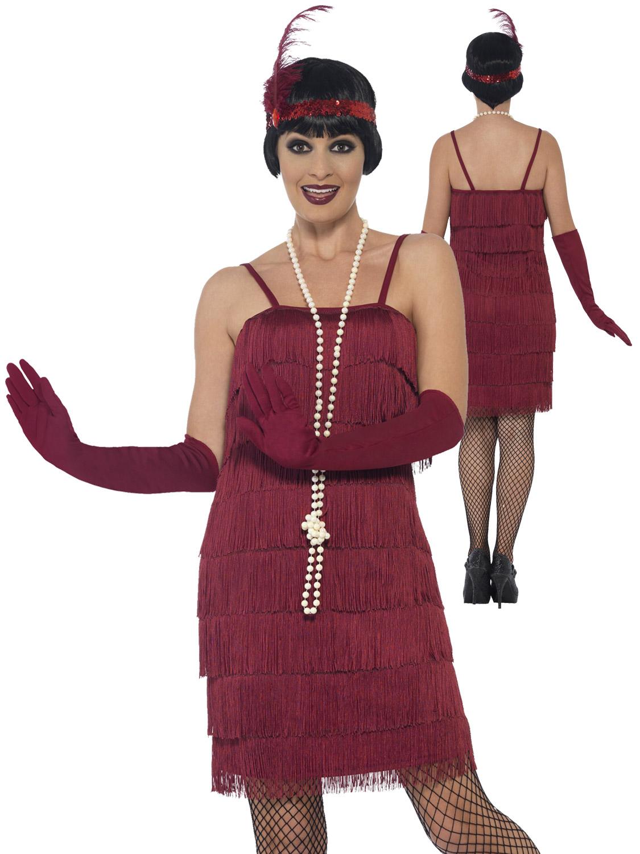 Femmes-Charleston-Costume-d-039-aileron-adultes-1920-S-Gatsby-Deguisement-Femme-Costume miniature 7