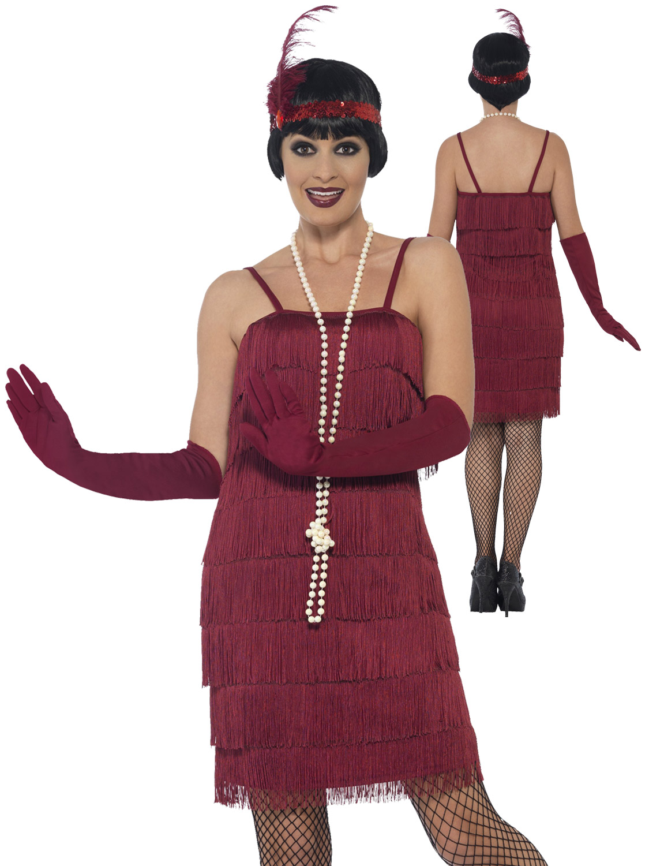 Femmes-Charleston-Costume-d-039-aileron-adultes-1920-S-Gatsby-Deguisement-Femme-Costume miniature 9
