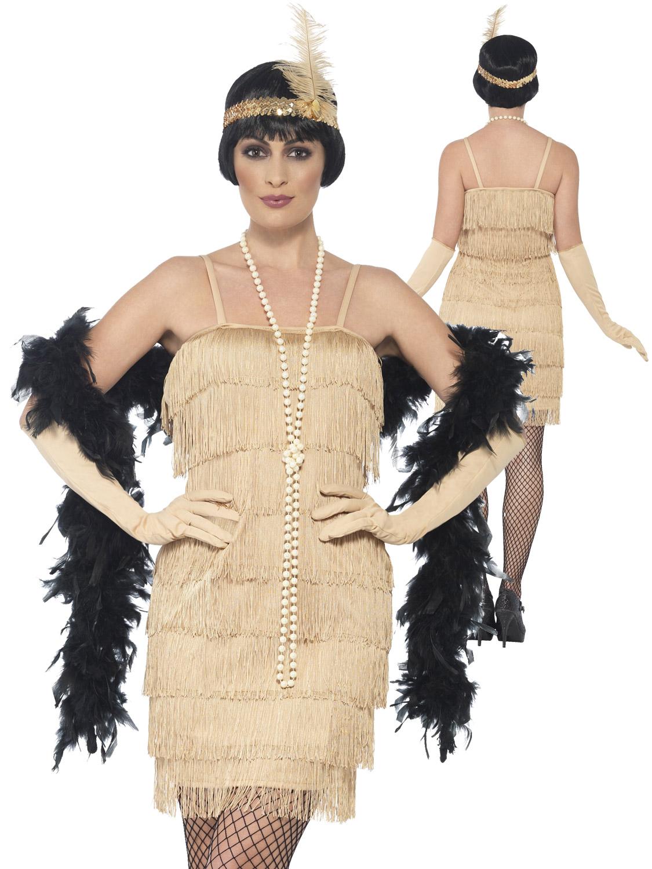 Femmes-Charleston-Costume-d-039-aileron-adultes-1920-S-Gatsby-Deguisement-Femme-Costume miniature 13