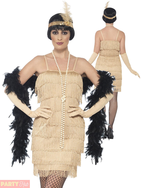 Femmes-Charleston-Costume-d-039-aileron-adultes-1920-S-Gatsby-Deguisement-Femme-Costume miniature 14