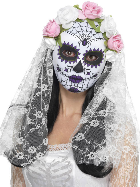 Day of the Dead Bride Full Mask