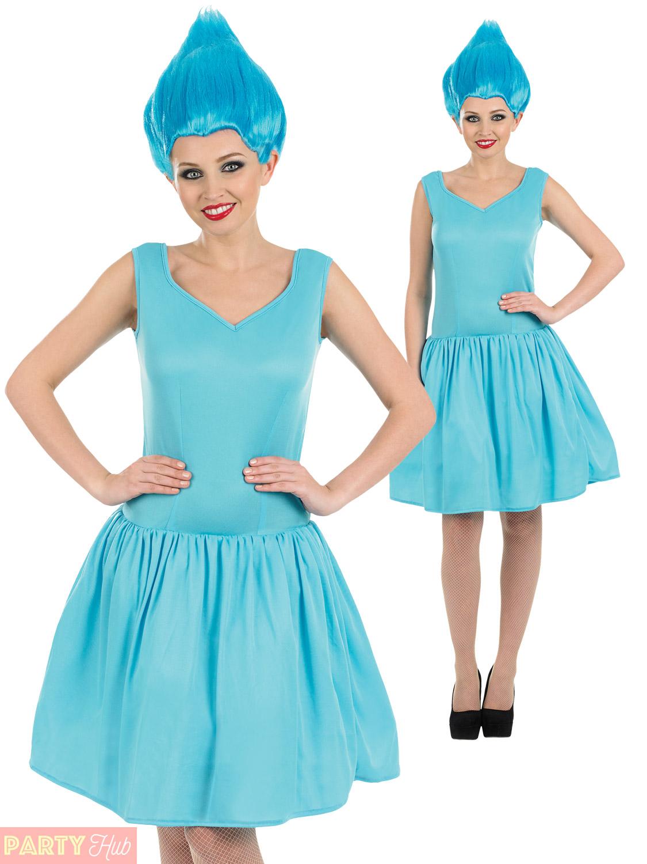 Ladies Neon Pixie Costume Adults Fairy Fancy Dress + Wig Womens 90s ...