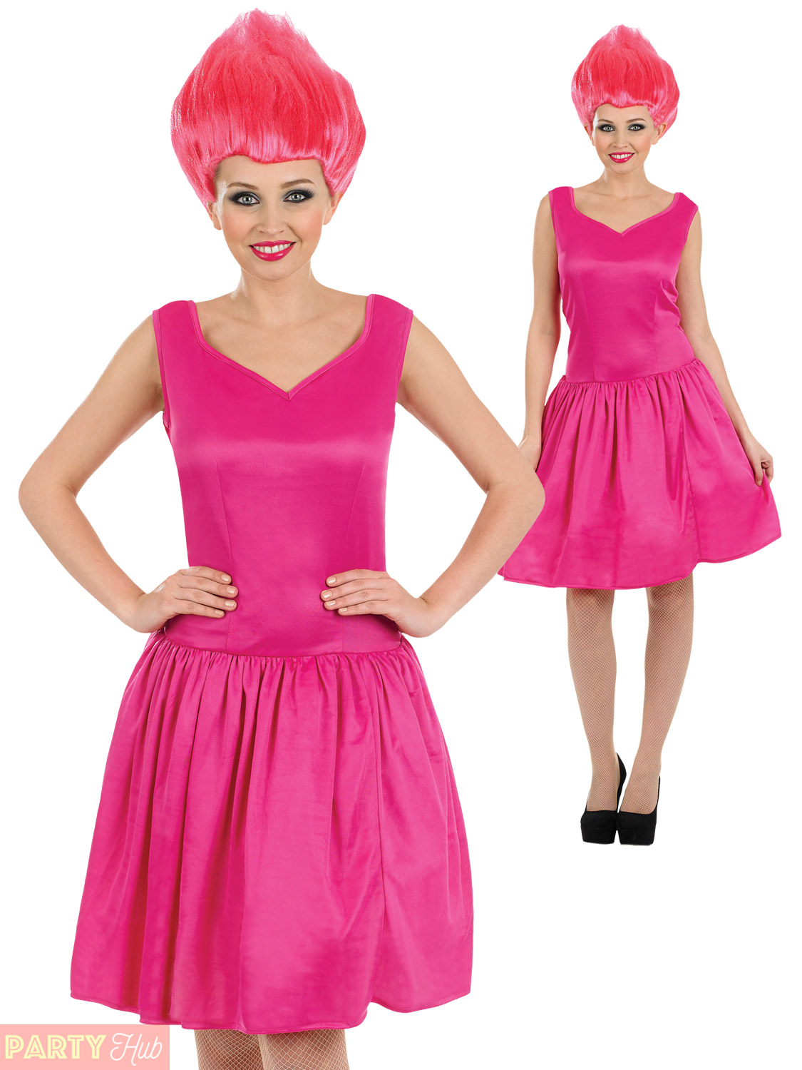 Ladies Neon Pixie Costume Adults Fairy Fancy Dress + Wig Womens 90s ... 1af12437c3
