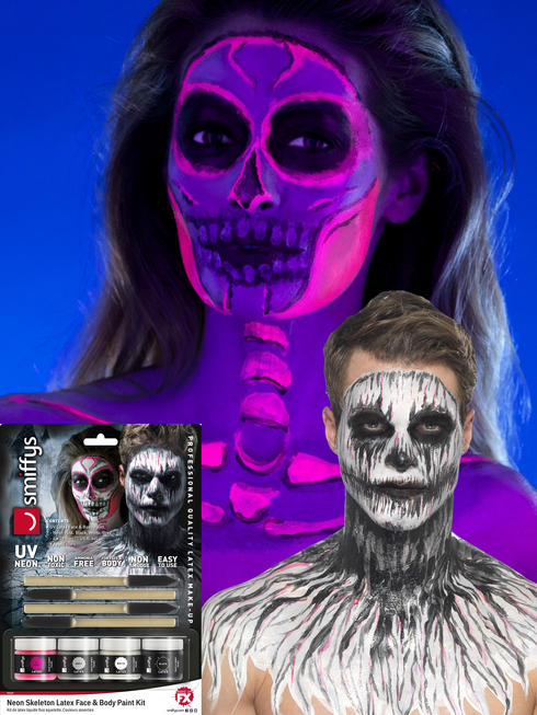 Pink Day of the Dead Liquid Latex Kit