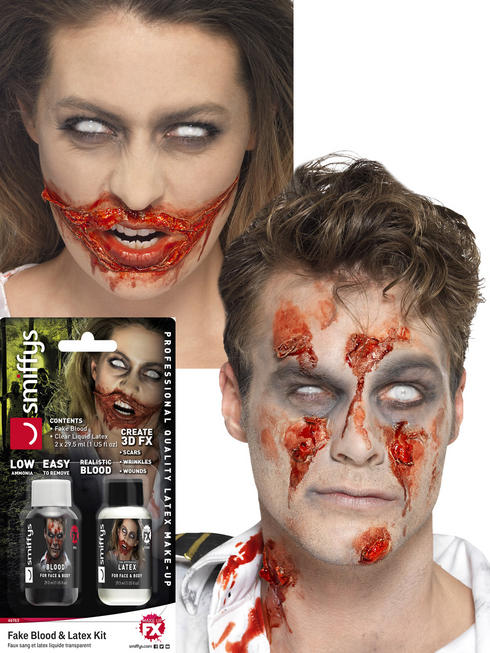 Fake Blood Liquid Latex Kit