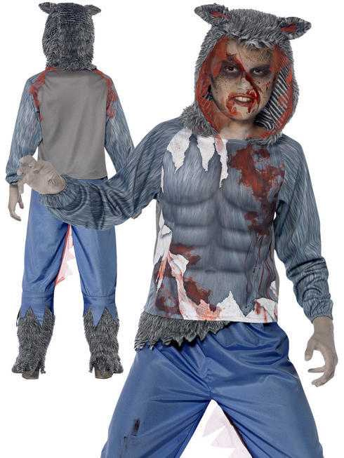 Boy's Deluxe Wolf Warrior Costume