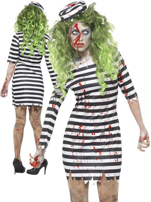 Ladies Zombie Jail Bird Costume