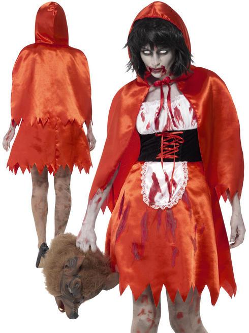 Ladies Zombie Little Miss Hood Costume