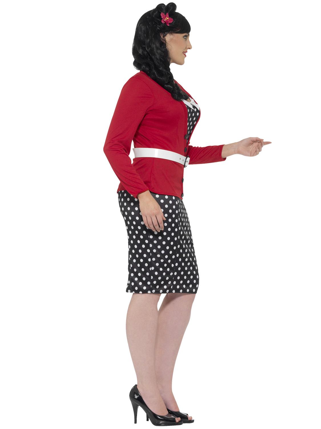 Ladies 1950s pin up curves costume adult womans 50s plus size image 4 solutioingenieria Choice Image