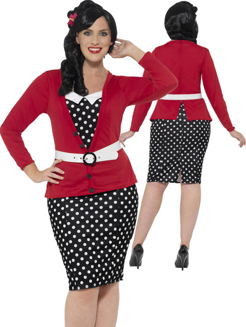 Ladies Curves 50's Pin Up Costume