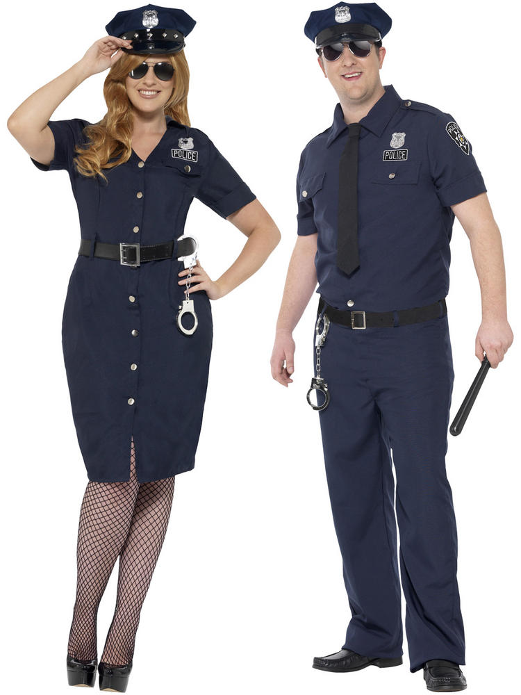 Adults Curves NYC Cop Costume