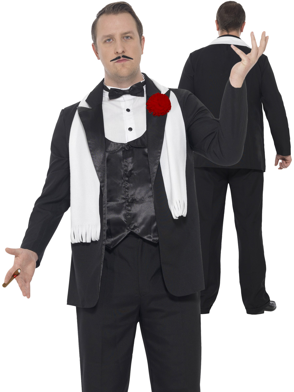men s curves gangster costume 20s fancy dress hub