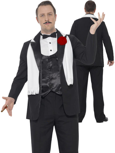 Men's Curves Gangster Costume