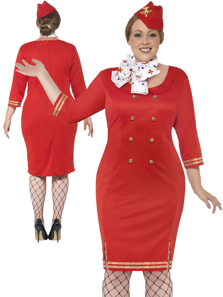 Ladies Curves Air Hostess Costume