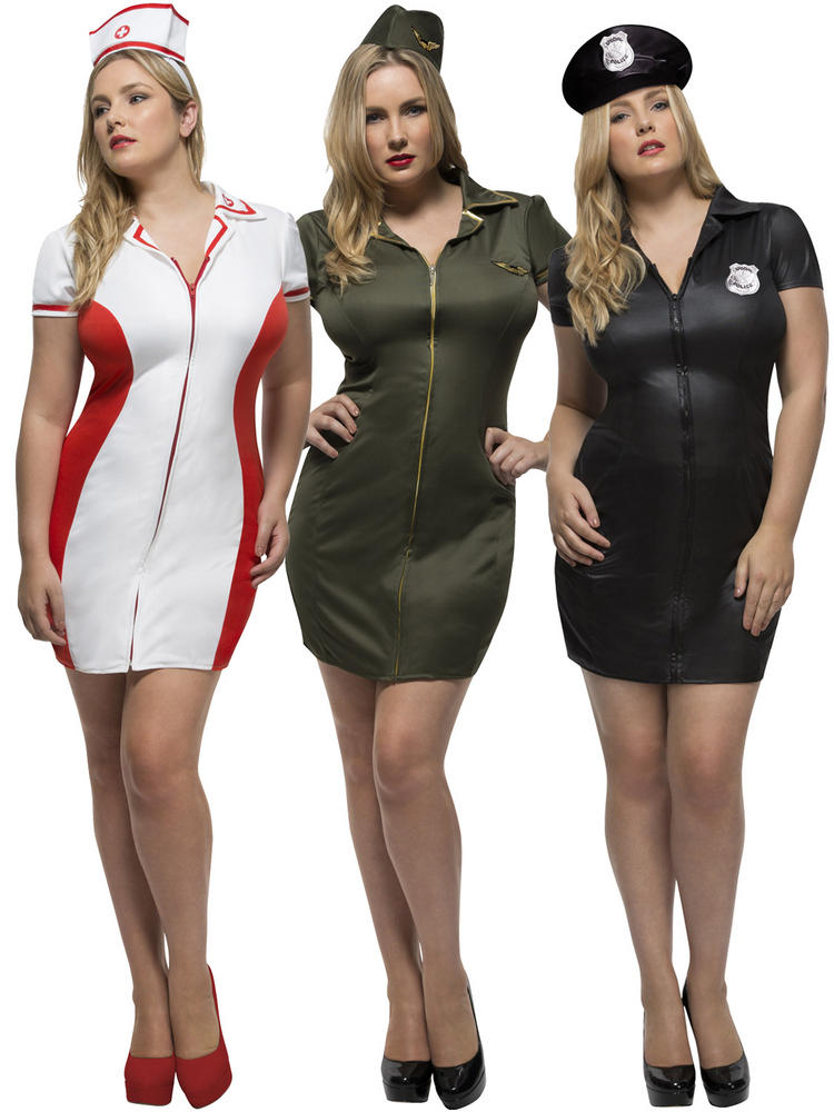 Ladies Fever Curves Uniform Costume