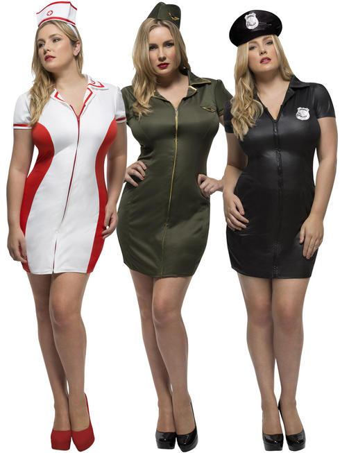 Ladies Fever Curves Uniform Costume