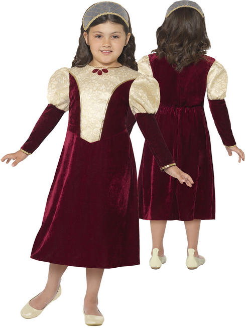 Girl's Tudor Damsel Princess Costume
