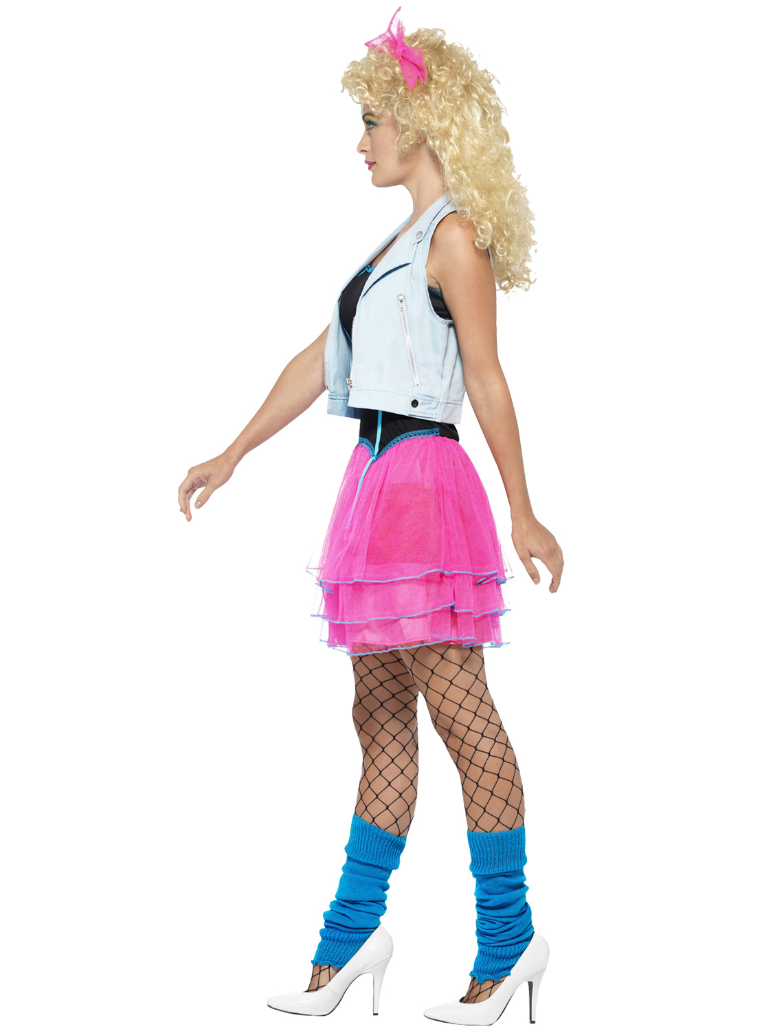 ladies 80s costume 1980s neon roller disco pop star fancy. Black Bedroom Furniture Sets. Home Design Ideas