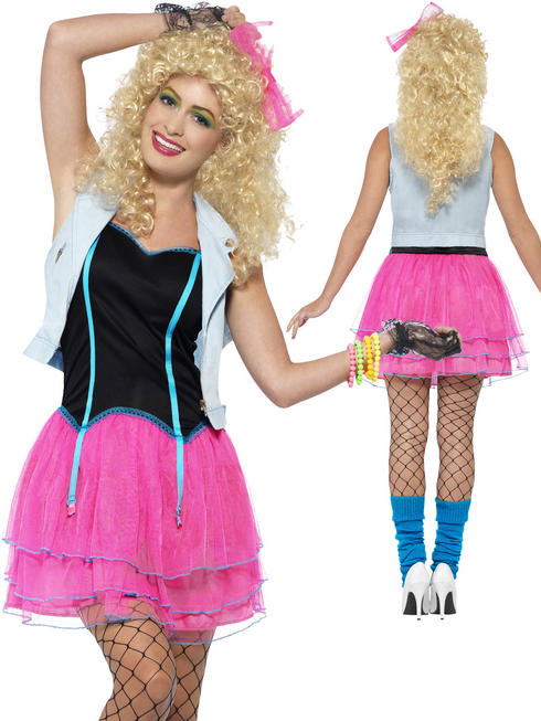 Ladies 80's Wild Girl Costume