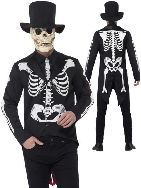 Men's Day of the Dead Senor Skeleton Costume