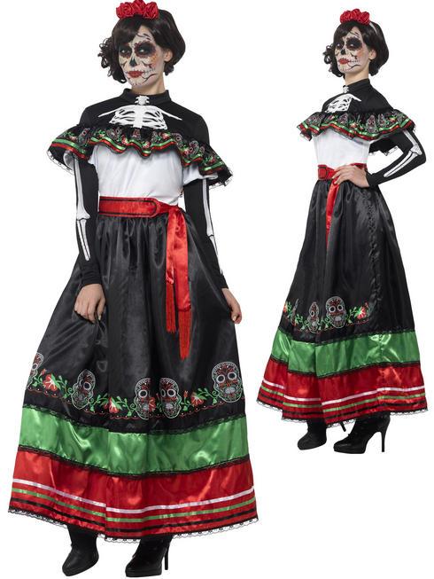 Ladies Day of the Dead Senorita Costume
