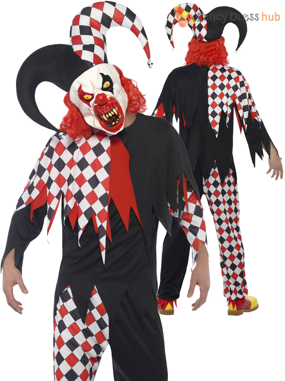 Mens killer clown jester costume mask halloween circus evil horror mens killer clown jester costume mask halloween circus solutioingenieria Image collections