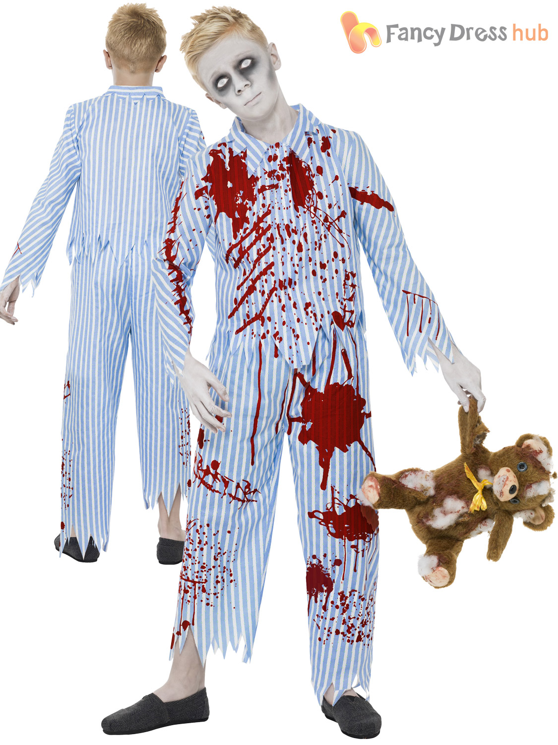 boys zombie pyjama boy halloween fancy dress costume childrens