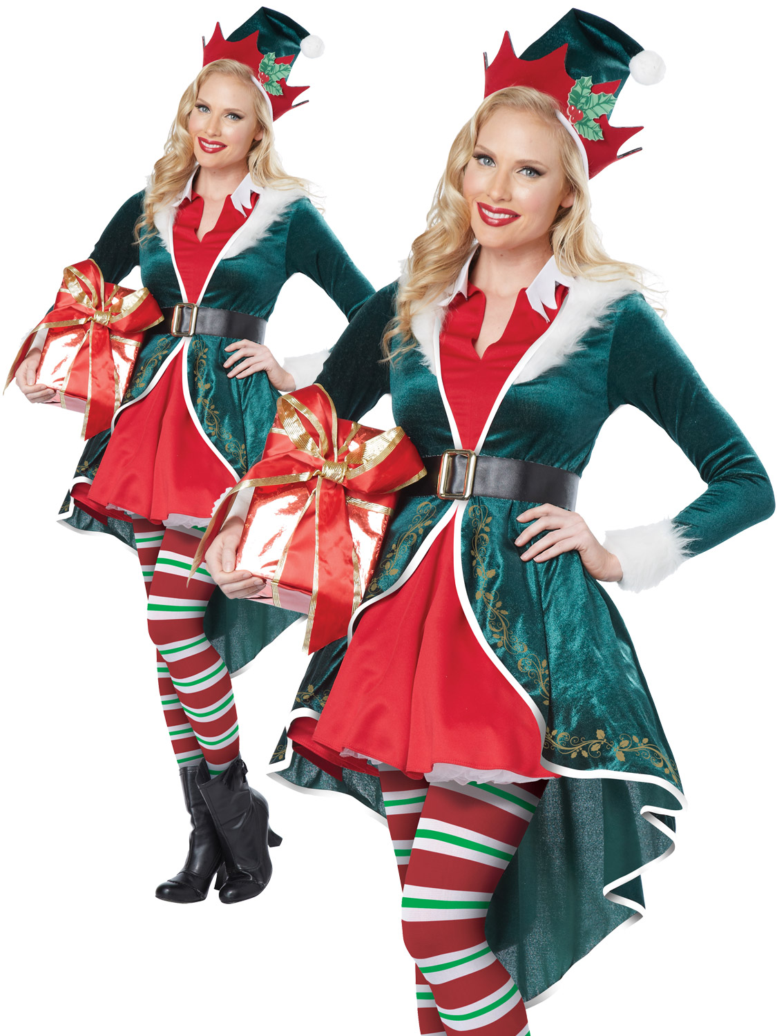 Ladies sexy elf costume adults christmas fancy dress womans xmas are you dressing up christmas why not transform yourself into an elf with this ladies sexy elf costume solutioingenieria Images
