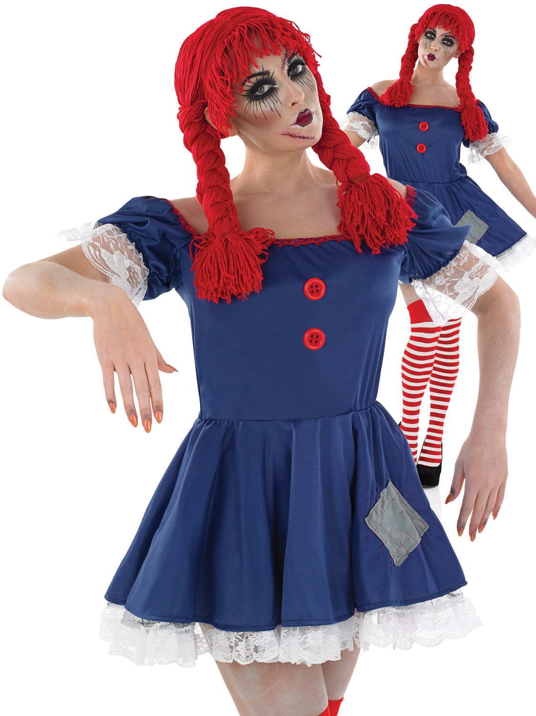 Ladies Scary Rag Doll Costume  All Halloween  Fancy -7532