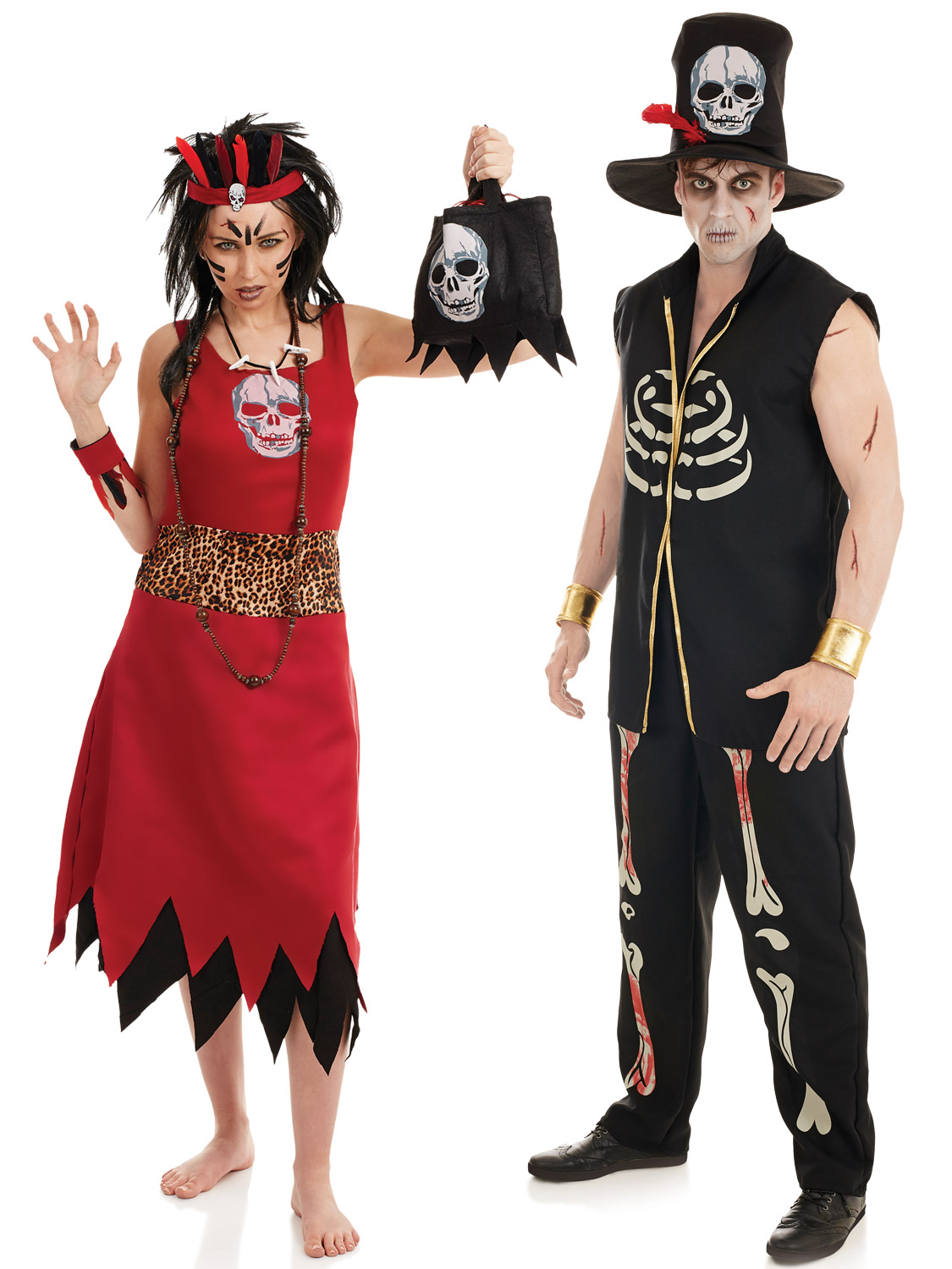 Voodoo Man Witch Doctor Costume Mens Ladies Couples ...