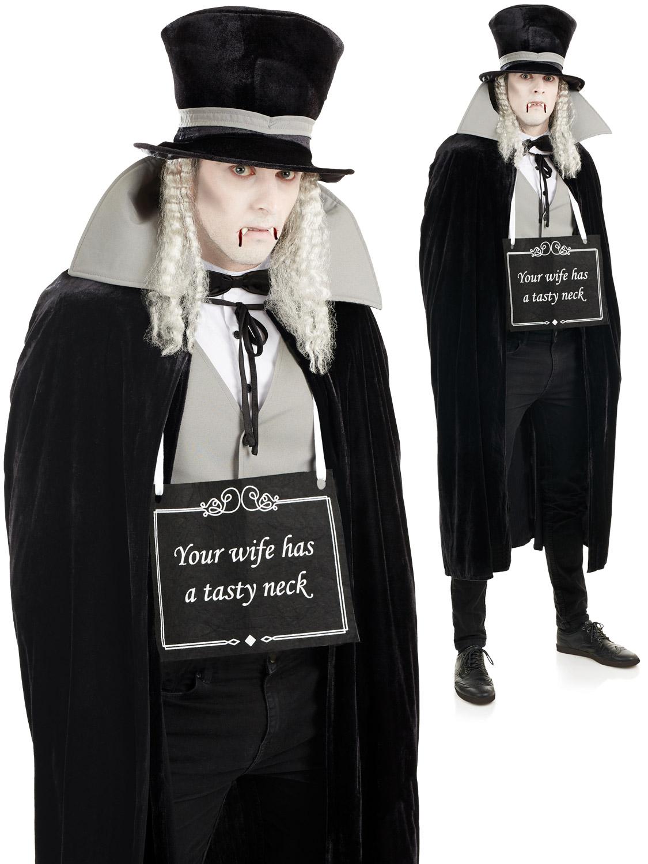 mens silent film vampire costume all halloween fancy