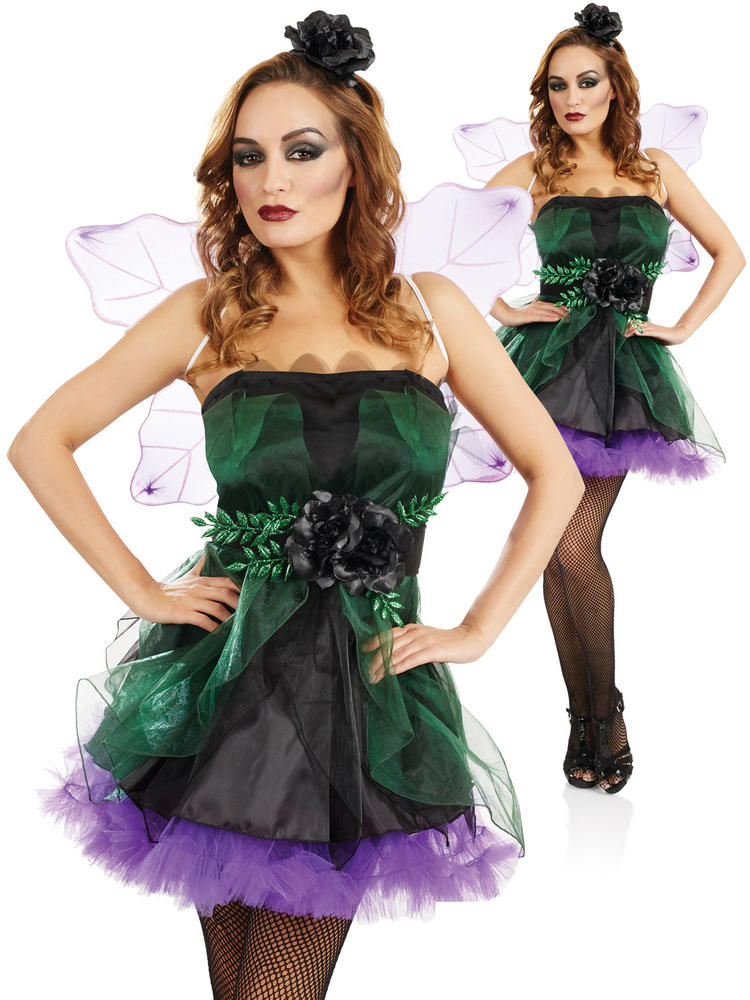 Ladies Purple & Black Fairy Nymph Costume