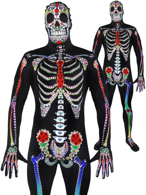 Men's Sugar Skeleton Skin Suit