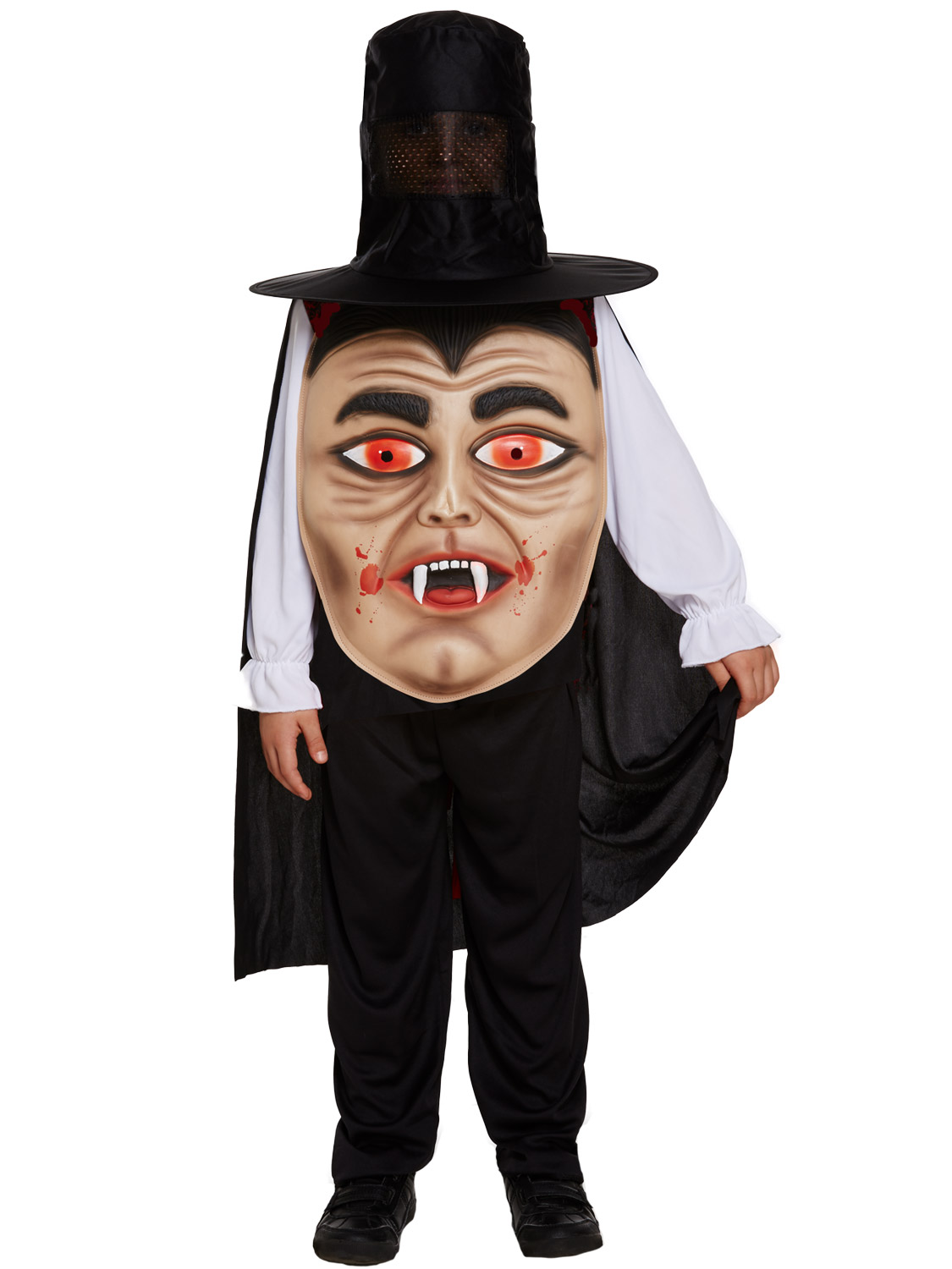 childs skull jumbo face costume boys halloween skeleton fancy dress