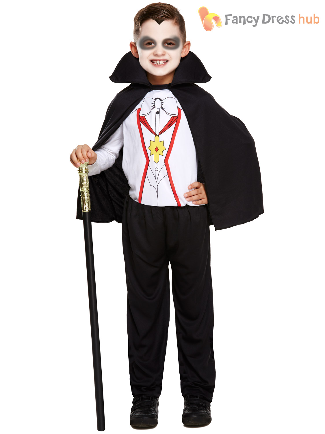 Halloween Vampire Costume Kids.Details About Boys Vampire Costume With Cape Halloween Fancy Dress Party Kids Outfit Dracula