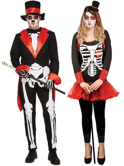 Mens Skeleton Magician Costume