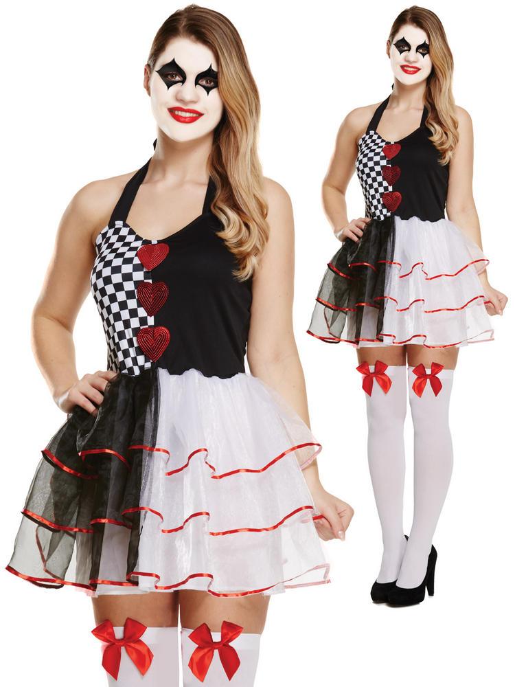 Ladies Evil Jester Costume