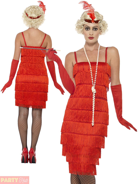 163e66214d1 Ladies 1920s Flapper Costume Adults Gatsby Fancy Dress Womens ...