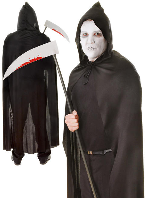 Adult's Black Hooded Cape
