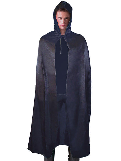 Adult's Satin Hooded Cape