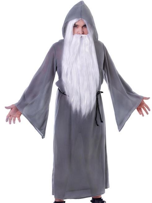 Adult's Grey Wizard Cloak