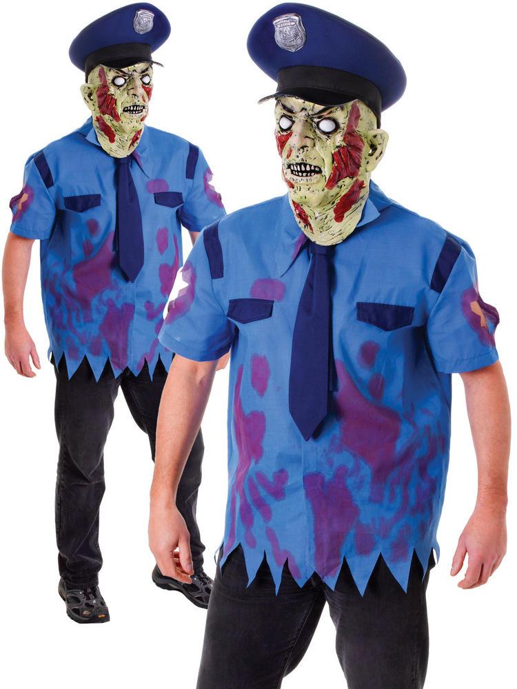 8307dfd124 Men s Zombie Cop Costume true Thumbnail 1