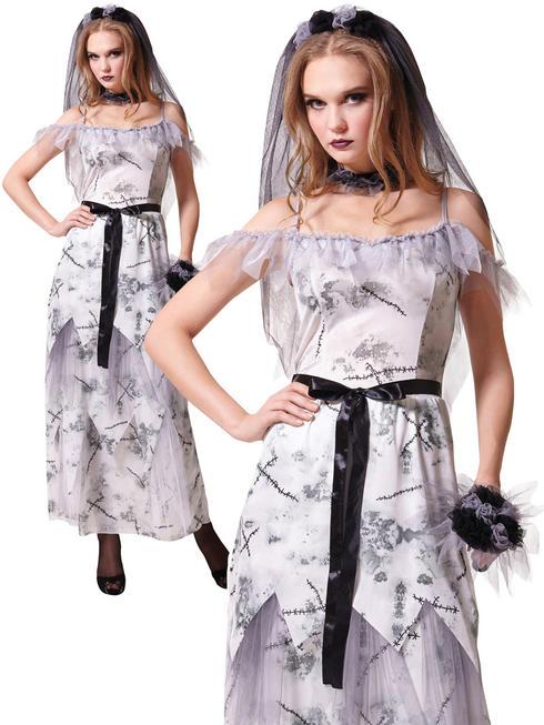 Ladies Zombie Corpse Bride Costume
