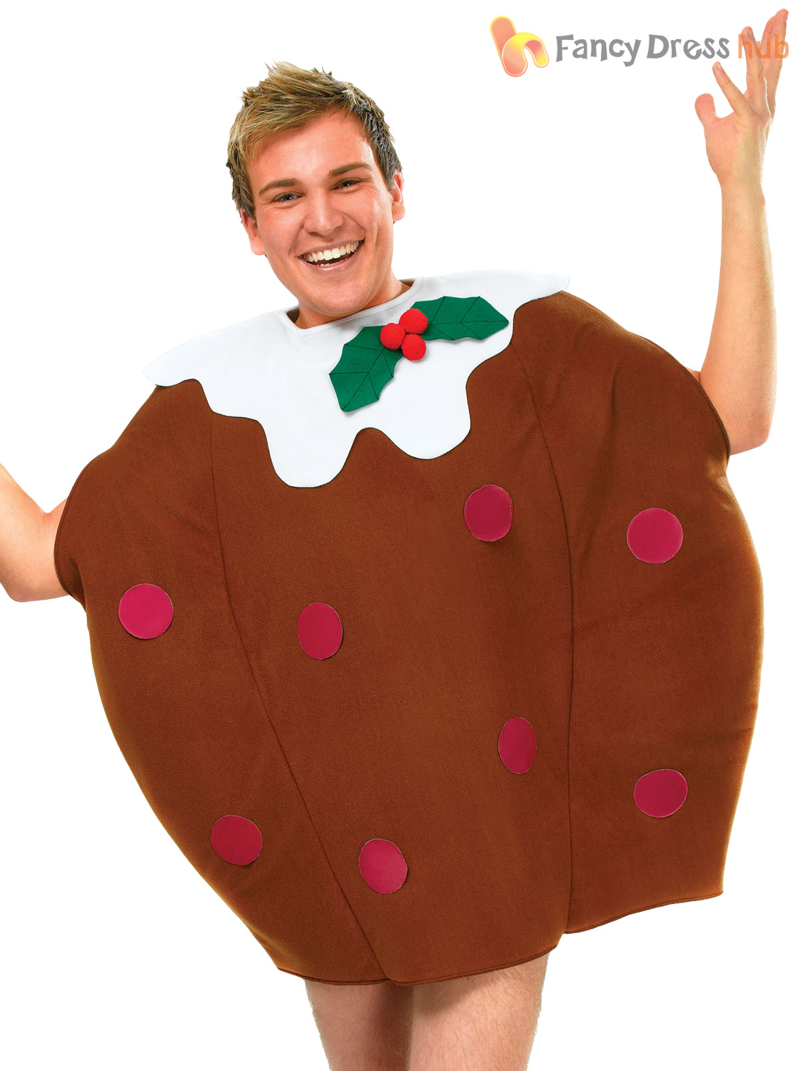 Adults Christmas Pudding Costume Mens Ladies Novelty Xmas Fancy ...